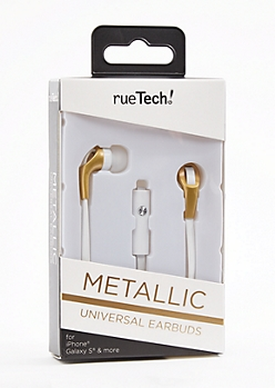 Metallic Gold 10 Ft Earbuds