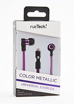 Purple Metallic Universal Earbuds