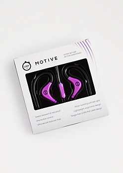 Purple Motive Sweatproof Earphones