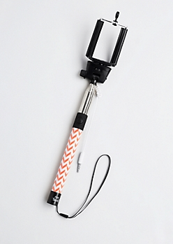 Orange Chevron Shutter Button Selfie Stick