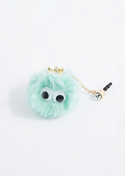 Mint Crown Puff Cell Phone Charm