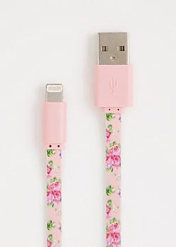 Rosy Extra Long USB Data Cord