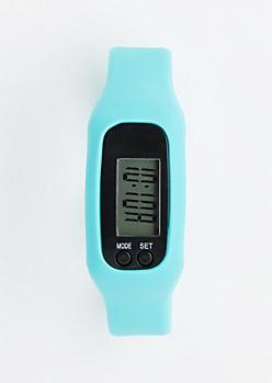 Blue Sports Fitness Tracker