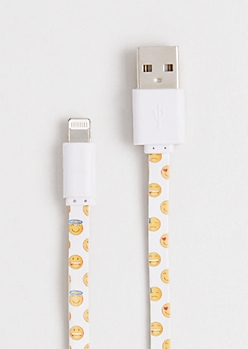 Emoji iPhone 5/6 10 Ft. Data Cable