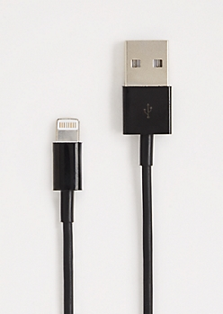 Black iPhone 5 Extra Long Charger Cable