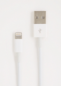 White iPhone 5 Extra Long Charger Cable