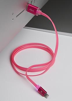 Fuchsia LED Universal Micro & Mfi Cable