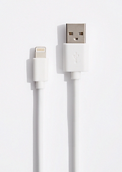 White 10 Ft Extra Long Lightning Data Cable