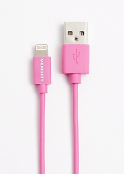 Fuchsia 3 Ft Lightning Charge & Sync Cable