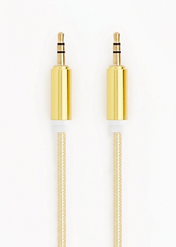 Metallic Gold Universal Auxiliary Cord