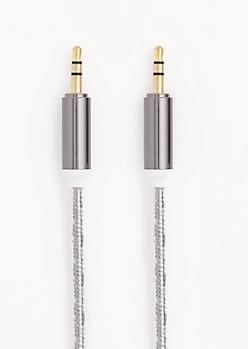 Metallic Black Universal Auxiliary Cord