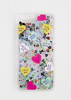 Glitter Expression Heart Case for iPhone 6/6S