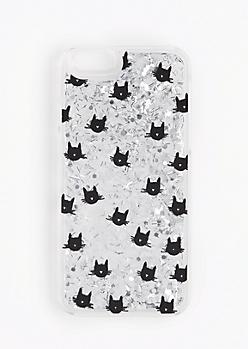Black Cat Glitter Case for iPhone 6/6S