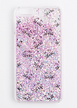 Pink Cat Glitter Case for iPhone 6Plus