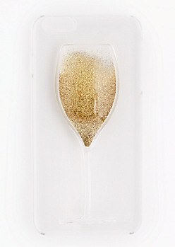 Wine Glass Glitter Case For iPhone 6 Plus