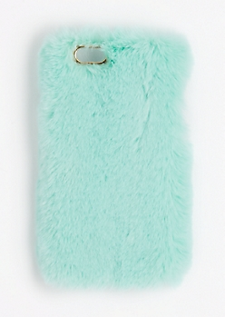 Mint Fluffy Case for iPhone 6Plus