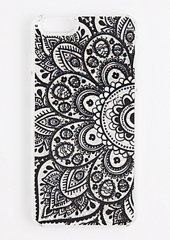 Glitter Floral Mandala Case for iPhone 6Plus