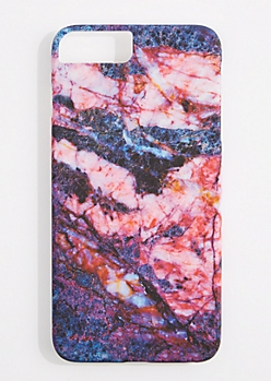 Pink Marbled Phone Case for iPhone 6 Plus / 7 Plus