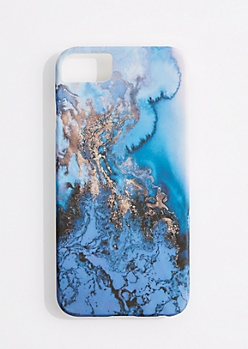 Blue Marbled Phone Case for iPhone 6/6S/7