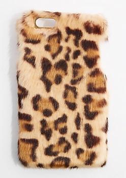 Furry Cheetah Case For iPhone 6 Plus / 6s Plus