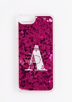Initial A Glitter Phone Case for iPhone 6S/6