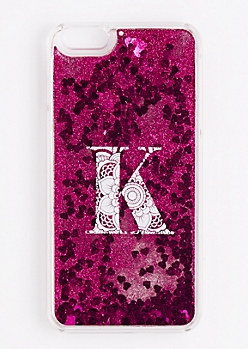 Initial K Glitter Phone Case for iPhone 6 Plus