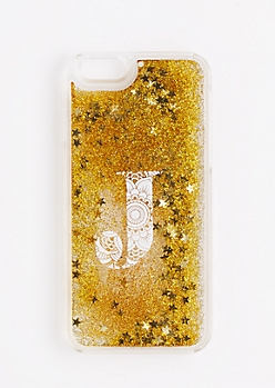 Initial J Glitter Phone Case for iPhone 6S/6