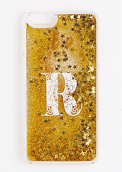 Initial R Glitter Phone Case for iPhone 6 Plus