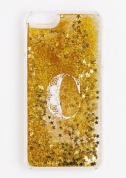Initial C Glitter Phone Case for iPhone 6 Plus