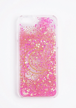 Moon Mandala Floating Sparkle Case For iPhone 6/6s