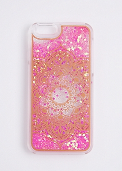 Floating Pink Sparkle Mandala Case For iPhone 6/6s