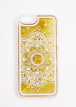 Gold Glitter Mandala Case For iPhone 6/6s