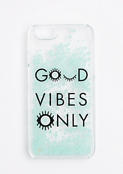 Good Vibes Only Glitter Case For iPhone 6