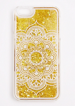 Gold Glitter Mandala Case For iPhone 6S Plus
