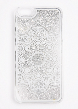 Silver Glitter Mandala Case For iPhone 6 Plus / 6s Plus