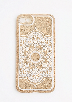 Gold Glitter Mandala Case For iPhone 7