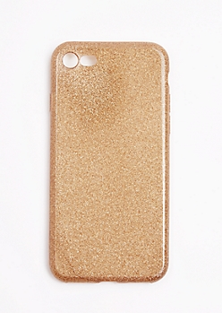 Gold Glitter Case For iPhone 7