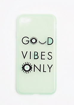 Good Vibes Only Glitter Case For iPhone 7