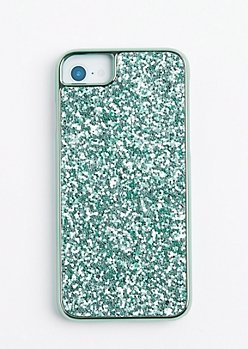 Mint Glitter Phone Case for iPhone 6/6S/7