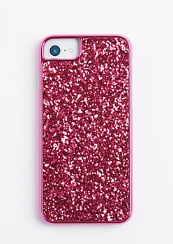 Fuchsia Glitter Phone Case for iPhone 6/6S/7