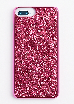 Fuchsia Glitter Phone Case for iPhone 6 Plus/7 Plus
