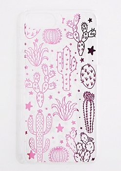 Pink Cactus Phone Case for iPhone 6 Plus/7 Plus