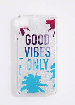 Good Vibes Only Glitter Phone Case for iPhone 6/6S/7