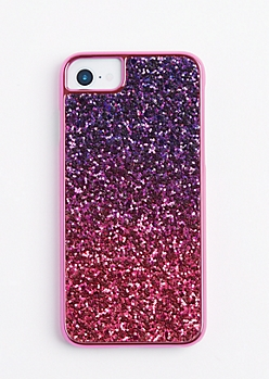 Fuchsia Ombre Glitter Phone Case for iPhone 6/6S/7