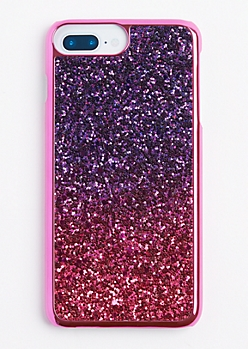 Fuchsia Ombre Glitter Phone Case for iPhone 6 Plus/7 Plus