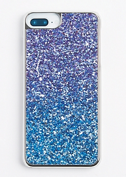 Blue Ombre Glitter Phone Case for iPhone 6 Plus/7 Plus