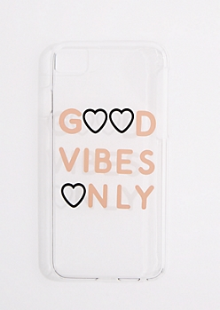 Good Vibes Only Clear Phone Case for iPhone 6/6S/7