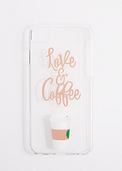 Love & Coffee Clear Phone Case for iPhone 6/6S/7