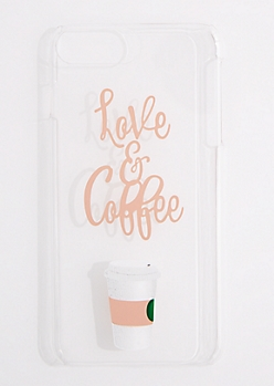 Love & Coffee Clear Phone Case for iPhone 6 Plus/7 Plus