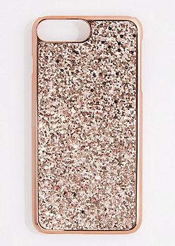 Rose Gold Glitter Phone Case for iPhone 6 Plus/7 Plus